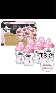 Tommee Tippee Feeding Bottles Pink 8oz