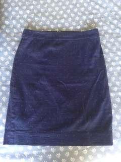 Spotty pencil skirt