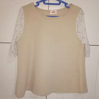 white cream blouse