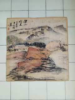 Vintage Chinese painting size 68x68cm