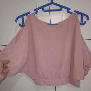 sabrina pink blouse