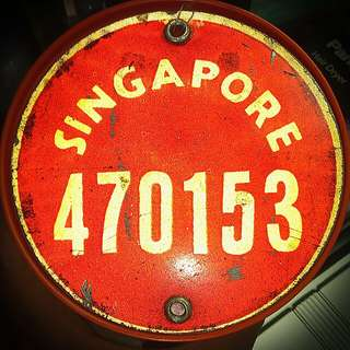 Bicycle License Plate Singapore Red Reflective