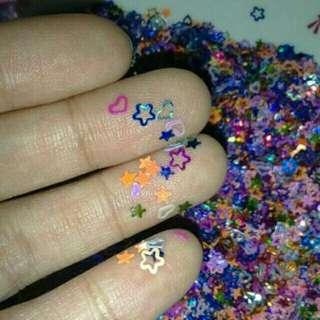 💅 200+ pcs Shiny Nail Art Assorted Colors