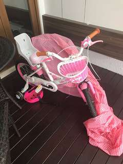 Pink bicycle for kids- hello kitty