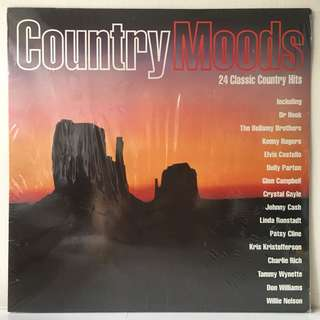 Various – Country Moods (1992 Europe Vinyl Pressing - SEALED - MINT)