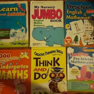 Used Preschool Activity Books (Free)