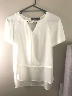 Sheer white long Top