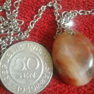 pancawarna stone & old coin