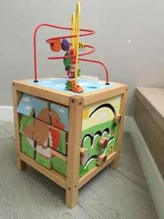 Janod garden themed maxi activity cube