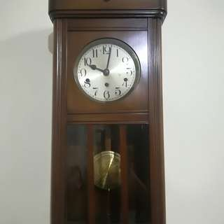Ber1 Antique Kienzle German Westminster  Wall Clock Jam Antik