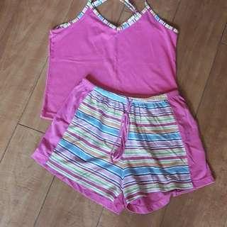 Terno sleeveless & shorts