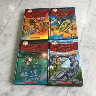Geronimo Stilton - The Kingdom of Fantasy series - book 1 to 4