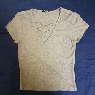 Jay Jays Grey Semi-Crop Top
