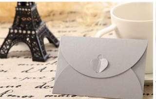 Silver Kraft envelope