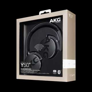 New: AKG Y50bt Bluetooth headset