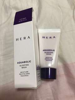 Hera aquabolic sleeping mask brand new 30ml