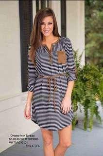 Drawstring dress fits S-L