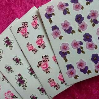 💅 5 pcs Nail Art Sticker (Water Decal) Assorted Designs