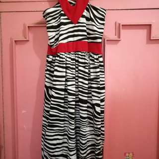 Animal prin maxi dress
