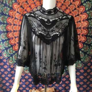FOREVER 21 Lace Sheer Top #Fesyen50