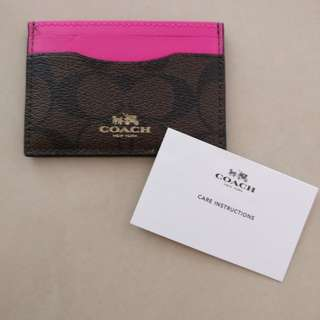 100% authentic Coach Card Holder brand new