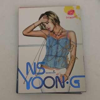 NS YONG.G親筆簽名CD