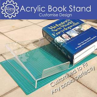 Acrylic Book Stand. Custom made specially for Weddings , Office , Shop display & Home