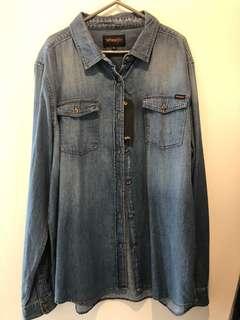 Wrangler Denim Shirt XL Brand New