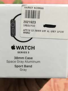 Apple Series 3 Watch ( 38 mm : Steel Gray Color )