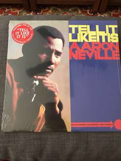 Aaron Neville Tell It Like It Is 50th Anniversary Pressing LP Vinyl Record