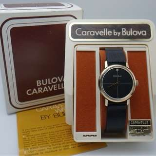 1976年 Caravelle by Bulova gold tone+diamond 男/女裝上鍊錶