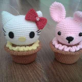 Cupcake kitty 100% acrylic yarn