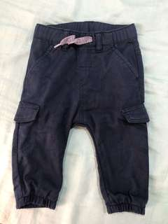 H&M Blue Pants 6-9 mos