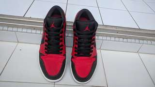 Air Jordan 1 Low Red/Black (Size: US 11)
