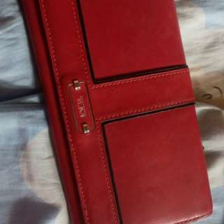 Authentic TUMI Red Wallet