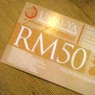 Umai-Ya RM50 Voucher