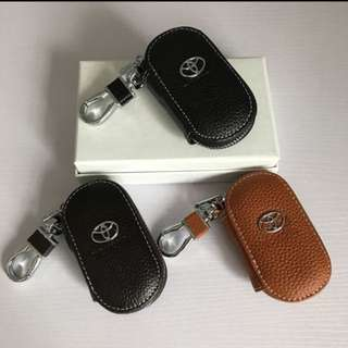 Handmade genuine calf leather Toyota key fob Pouch CHR Sienta Altis ETC
