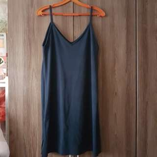 Navy blue slip dress