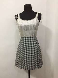 Chicabooti checkered skirt