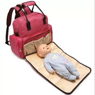 <P.O> Baby Diaper Mommy Nursing Bag
