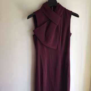 New Ted Baker Bow Neck Dress