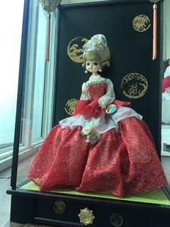 Japanese Doll in Musical Glass Case