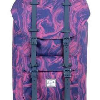 ORIG Herschel Little America Purple Marble Bag