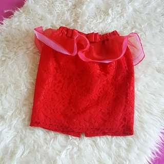 #disc 50% Peplum lace skirt anak