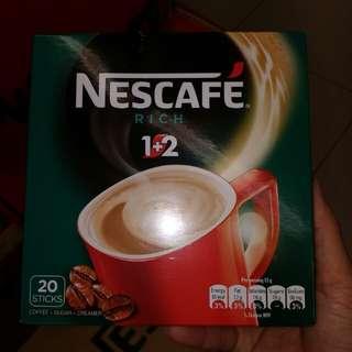 全新咖啡 coffee 20 條 Nescafe rich 特濃
