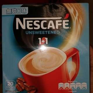 全新咖啡 coffee 20 條 Nescafe 無糖口味 unsweetened