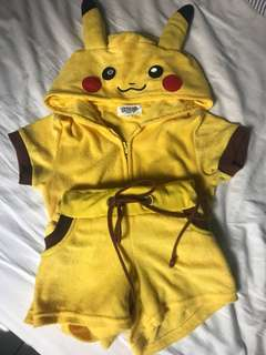 Pikachu Hoodie/ Pyjama for 130-145cm kids