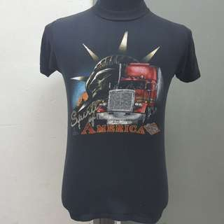 Vintage 80's Truckers Only Tshirt 50/50 Size S