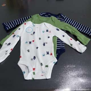 ⚡CLEARANCE⚡BN Carter's Baby Long Sleeve Romper (x3)