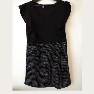 black n gray dress